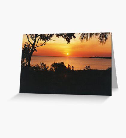 Sunset at Fanny Bay. Darwin Greeting Card