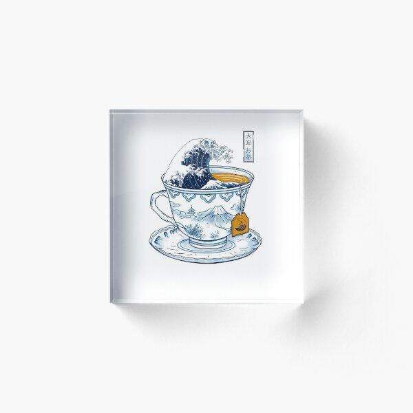 The Great Kanagawa Tea Acrylic Block