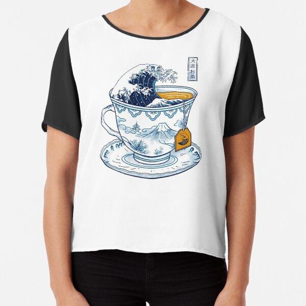 The Great Kanagawa Tea Chiffon Top
