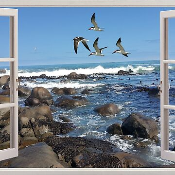 Jacobsbaai in a frame design for t-shirts and more by yakoo21