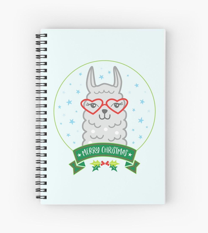 Journal Christmas Alpaca Llama Notebook