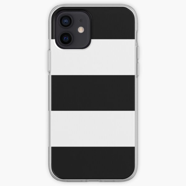 Black & White Wide Horizontal Stripes #2 iPhone Soft Case