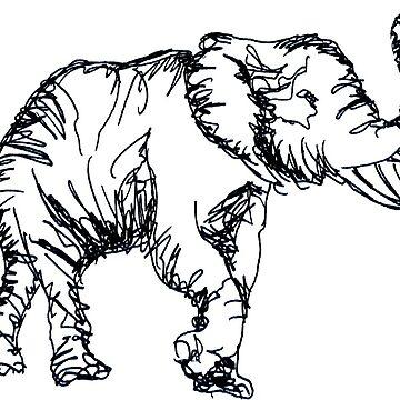 Elefante dibujado a mano de Claireandrewss