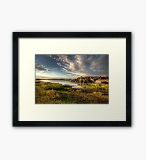 Willow Lake Green Framed Print