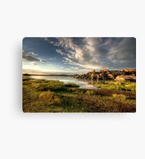 Willow Lake Green Canvas Print