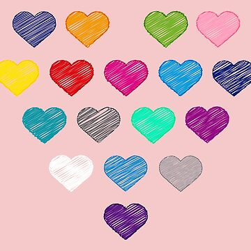 Colors Of Love Collection Colorful Hearts  by peter2art