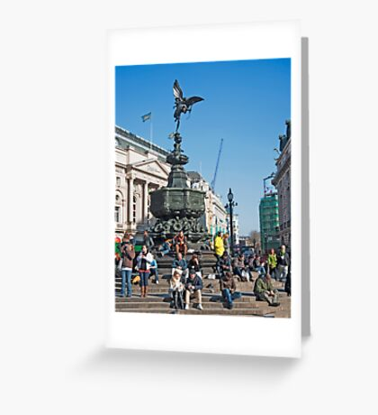 The Statue of Eros: Piccadily Circus, London, UK. Greeting Card