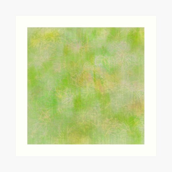 Lime Green Subtle Batik Print Art Print