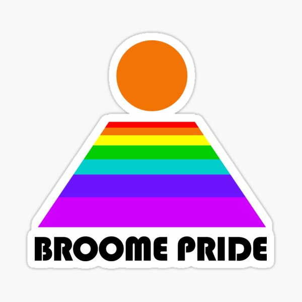 Broome Pride Logo - black Sticker