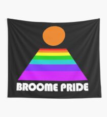 Broome Pride Logo - white Wall Tapestry