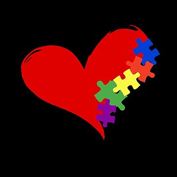 Valentines Gift for Him/ Her T-Shirt  Autism Awareness Puzzle Shirt by KhushbooLohia