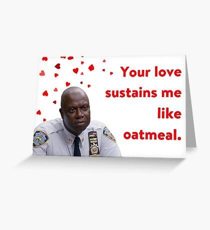 Brooklyn 99, Capitán Holt, Tarjeta de aniversario, Tarjeta de cumpleaños, Tarjeta del día de la madre, Tarjeta del día del padre, Tarjeta de San Valentín, Cita del Capitán Raymond Holt Tarjeta de felicitación