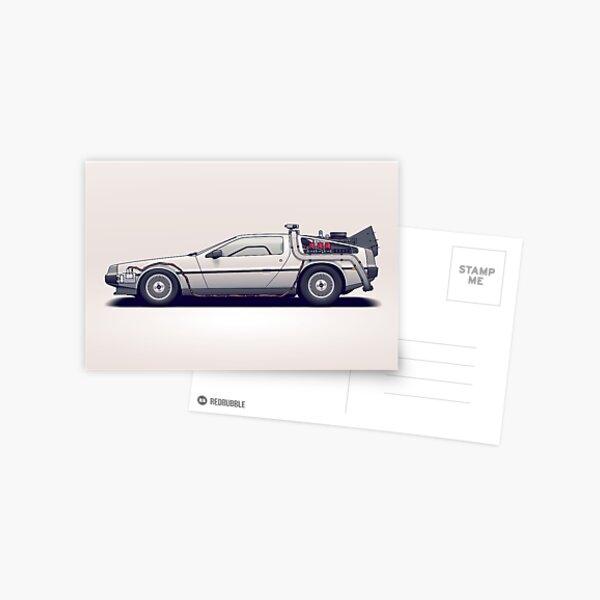 DeLorean Postcard