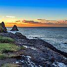 Ceibwr Sunset by mlphoto