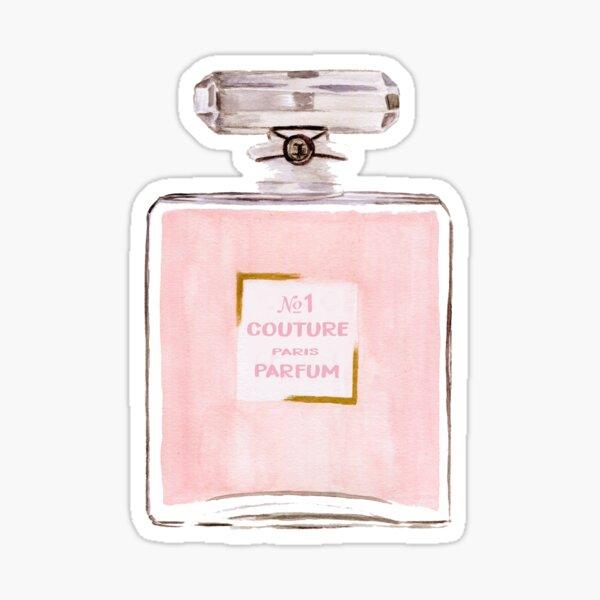 Pink Perfume Bottle Sticker