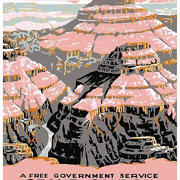 Grand Canyon USA Vintage Travel Poster by vintagetreasure