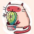 Cat Eating Cactus by LydiaLyd