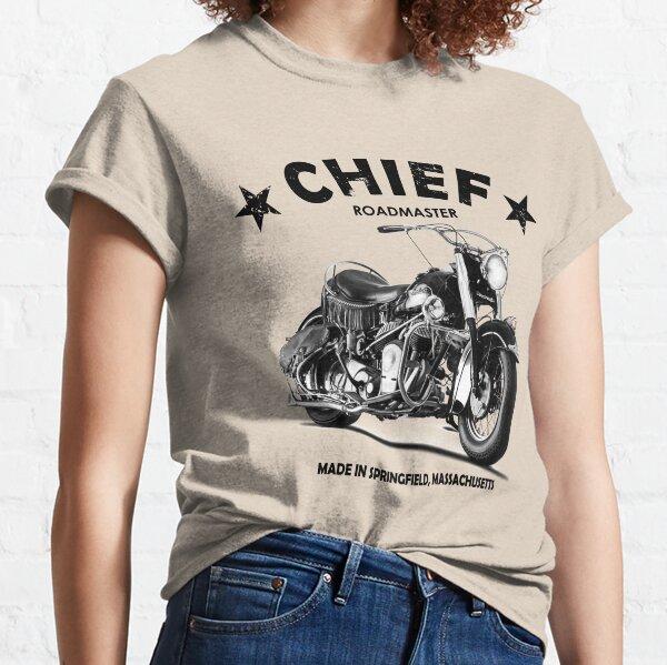 Herren Indisch Vintage Motorrad Aufdruck Natürlich T-Shirt