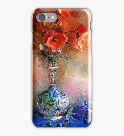 Poppies and Glass Marbles iPhone Case/Skin