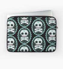 Sugar Skull n Crossbones Emblem Laptop Sleeve