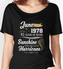 June 1978 Sunshine Mixed With A Little Hurricane Relaxed Fit T-Shirt