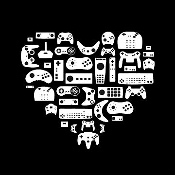 Gaming Love T-Shirt for Men Game Valentines Day Gift for Him by KhushbooLohia