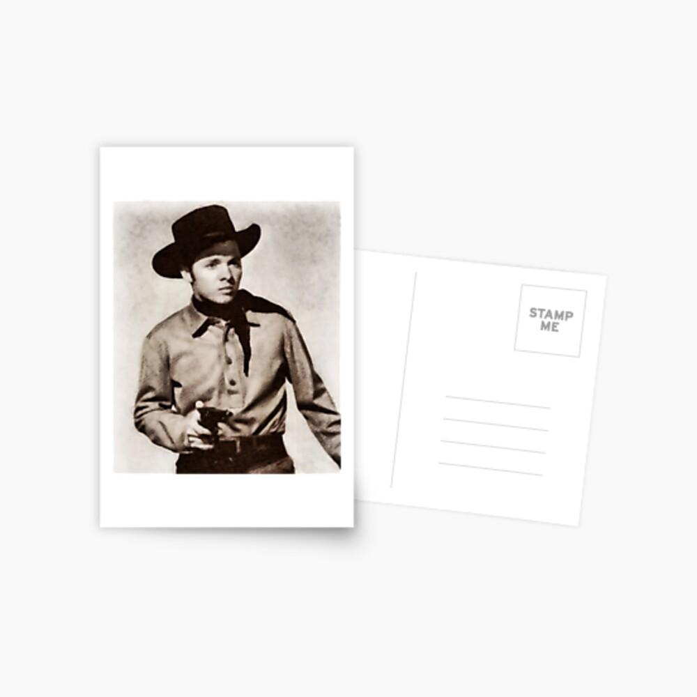 Audie Murphy, Held und Hollywood-Star Postkarte
