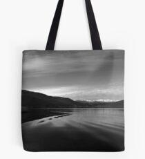 Lake Monochrome in Silence Tote Bag