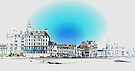 Seafront at Eastbourne Sussex by Dorothy Berry-Lound