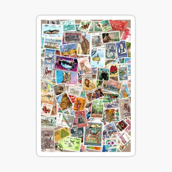 Vintage postage stamps Sticker