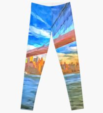Legging Brooklyn Bridge Pop Art