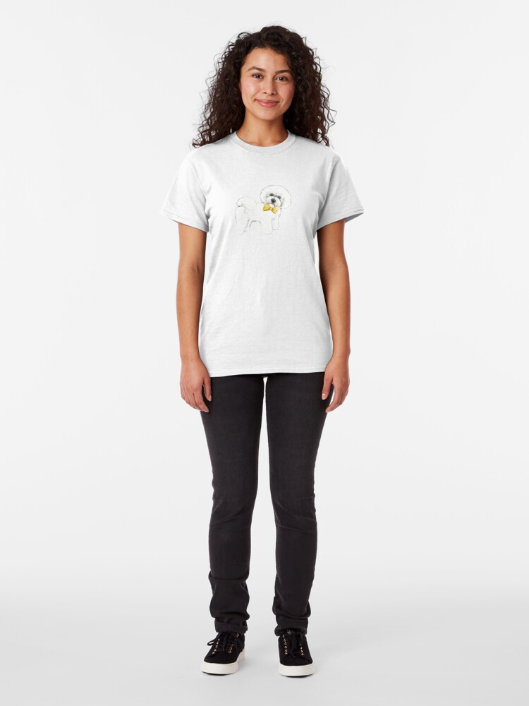 Alternate view of Bichon, happy and fun! Classic T-Shirt