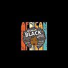 Retro Afro-Wort Art Hair Black Geschichtsfrauen-T-Shirt Typografie-Afroamerikaner-Geschenk von Meditart Geld