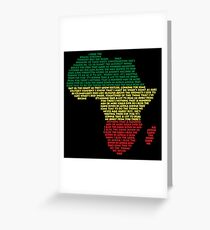 Africa by Toto Greeting Card
