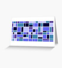 Retro Blocks in Blueberry Greeting Card