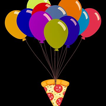 Pizza with Balloons by Basti09