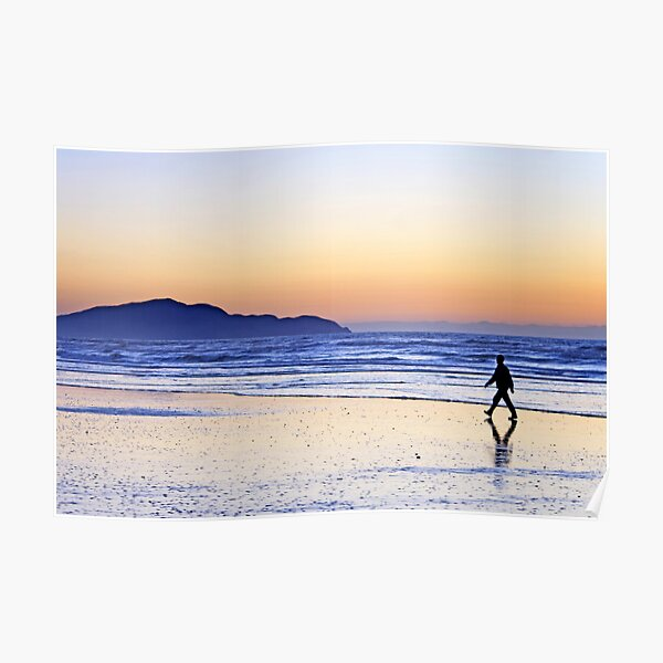 Strolling at Sunset Poster