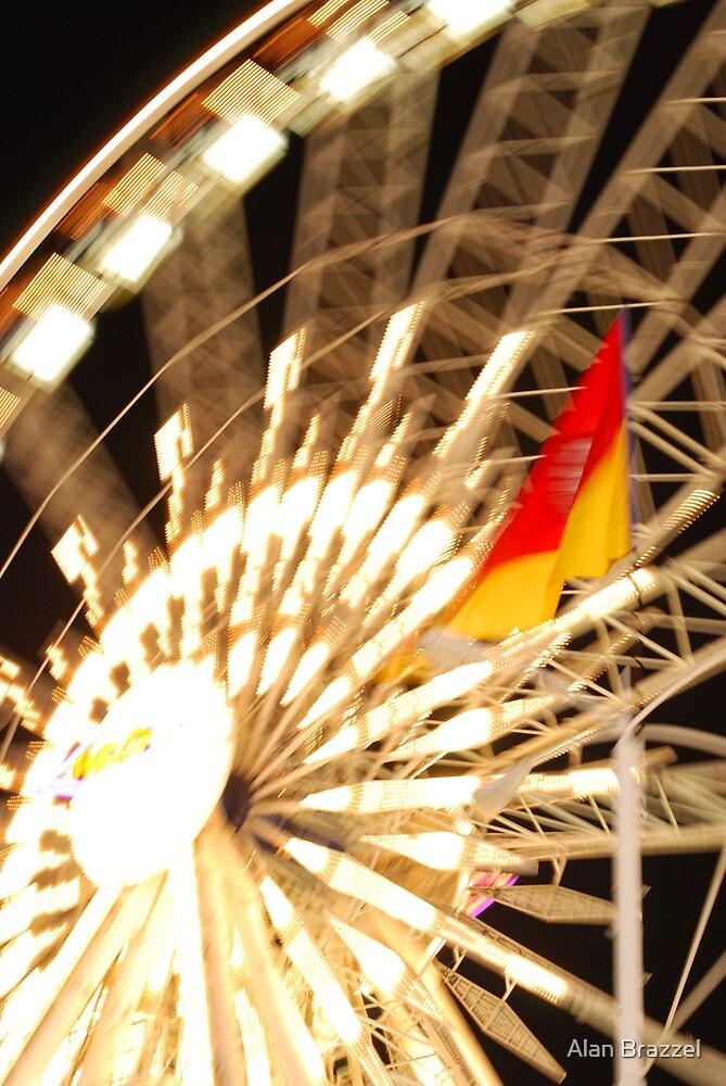 Ferris Wheel-L.A. Fair midway by Alan Brazzel