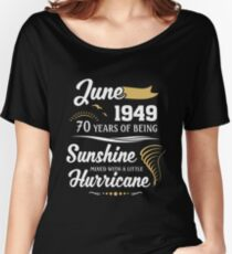 June 1949 Sunshine Mixed With A Little Hurricane Relaxed Fit T-Shirt