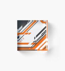 CSGO | Black & Orange v2 Acrylic Block