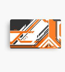 CSGO | Schwarz & orange v2 Metalldruck