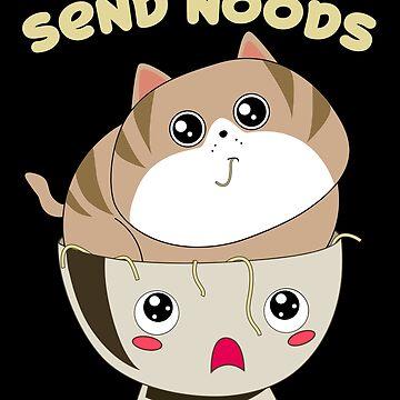 Send Noods Kawaii Ramen Bowl with a Cat by Basti09