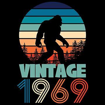 50th Birthday Bigfoot Design - Vintage 1969  by kudostees