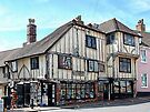 Ye Olde Bookshop Lewes front view by Dorothy Berry-Lound