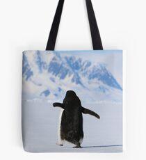 Adelie Penguins in Antarctica,   18 Tote Bag