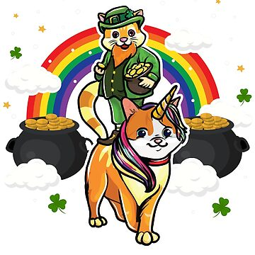 Cat Leprechaun Caticorn St. Patricks's by frittata