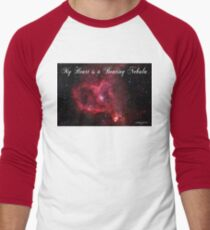 My Heart is a Beating Nebula Men's Baseball ¾ T-Shirt