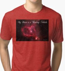My Heart is a Beating Nebula Tri-blend T-Shirt