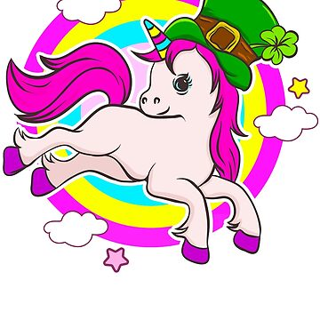 Unicorn Leprechaun St. Patricks's by frittata