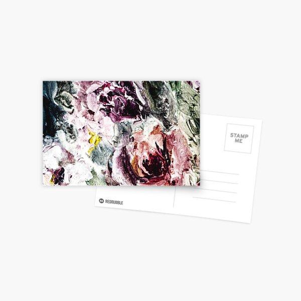 Fallen Roses Moody Postcard